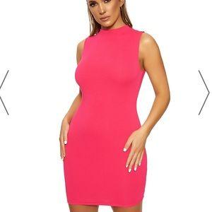 Naked Wardrobe neon pink dress
